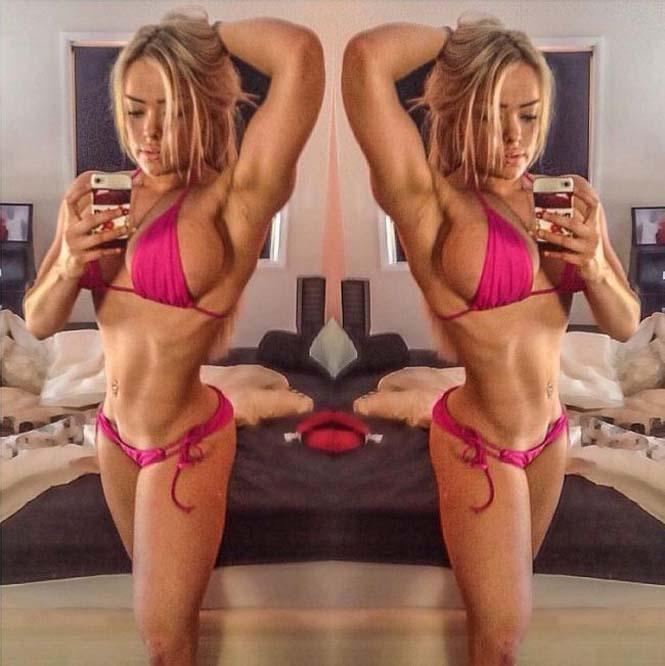 Γυναίκα δείχνει την αλλαγή στο σώμα της μετά από 4 ώρες καθημερινής γυμναστικής για 5 μήνες (7)