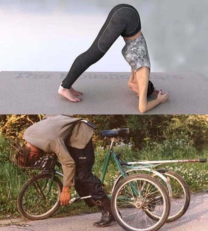 Μεθυσμένοι μιμούνται στάσεις Yoga (9)