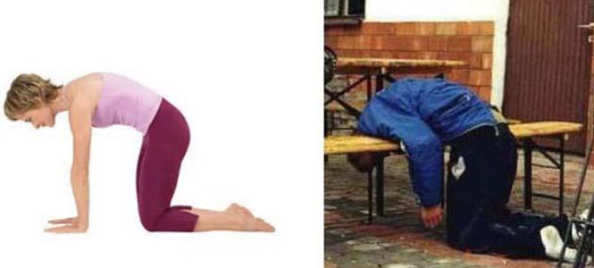 Μεθυσμένοι μιμούνται στάσεις Yoga (12)