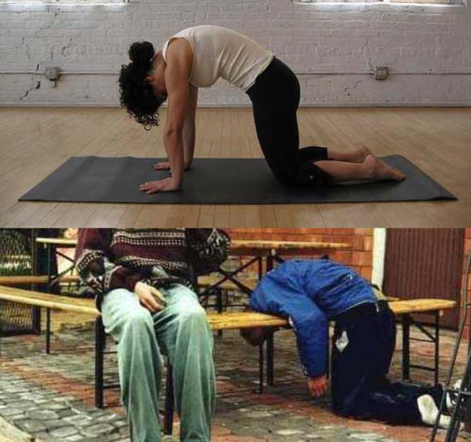 Μεθυσμένοι μιμούνται στάσεις Yoga (18)