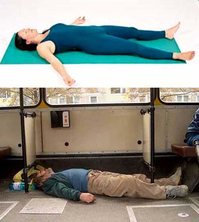 Μεθυσμένοι μιμούνται στάσεις Yoga (24)