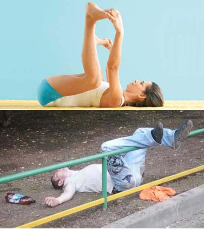 Μεθυσμένοι μιμούνται στάσεις Yoga (25)