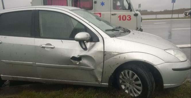 Οδηγός βγήκε ζωντανός από τρομακτικό τροχαίο κυριολεκτικά στο παρά τρίχα (4)