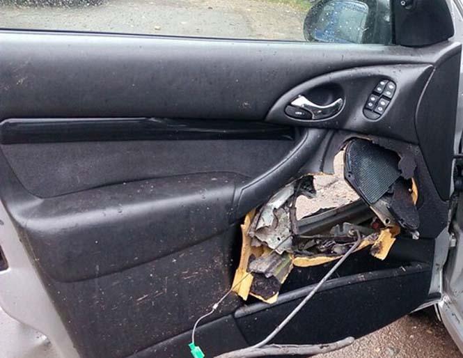 Οδηγός βγήκε ζωντανός από τρομακτικό τροχαίο κυριολεκτικά στο παρά τρίχα (6)