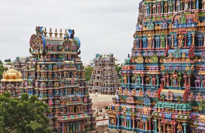 Πολύχρωμοι ναοί στην Ινδία (12)