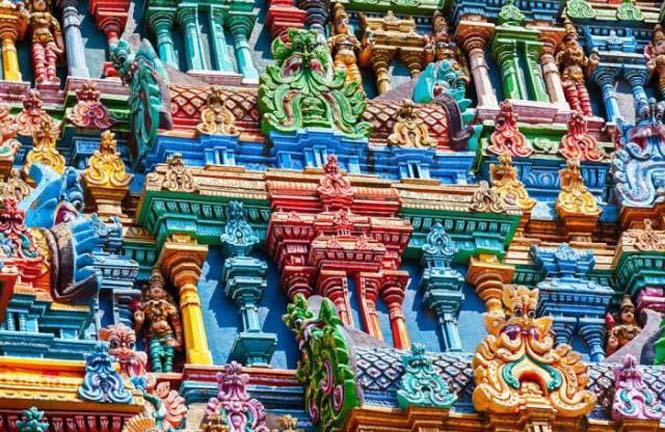 Πολύχρωμοι ναοί στην Ινδία (15)