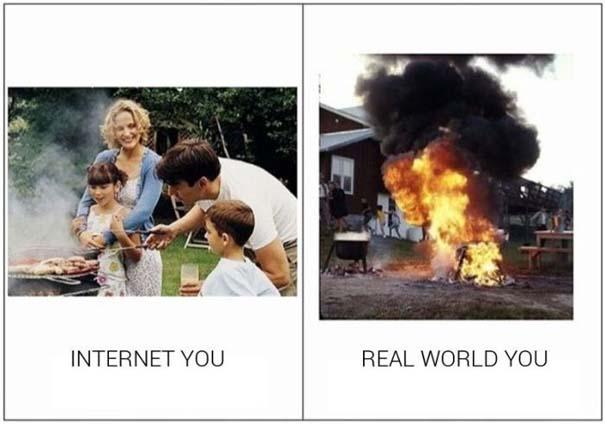 Πως φέρονται κάποιοι στο Internet και πως είναι στην πραγματικότητα (13)