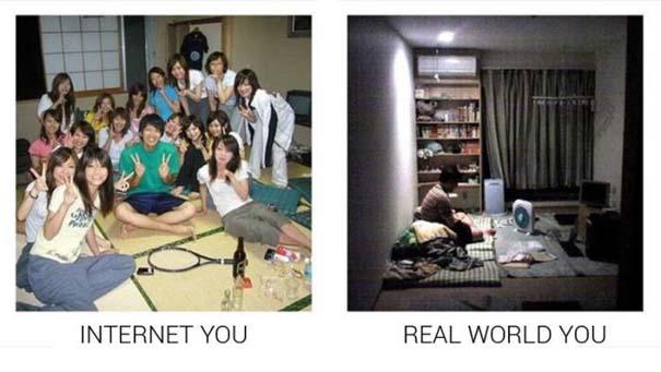 Πως φέρονται κάποιοι στο Internet και πως είναι στην πραγματικότητα (14)