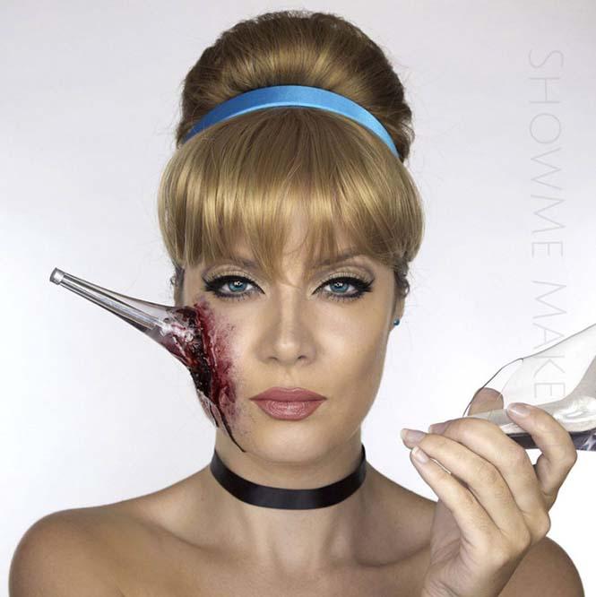 Make up artist μας δείχνει πως θα ήταν οι πριγκίπισσες της Disney αν πάθαιναν... ατύχημα (2)