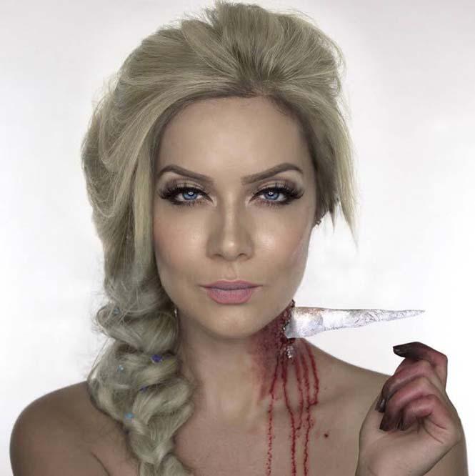 Make up artist μας δείχνει πως θα ήταν οι πριγκίπισσες της Disney αν πάθαιναν... ατύχημα (4)