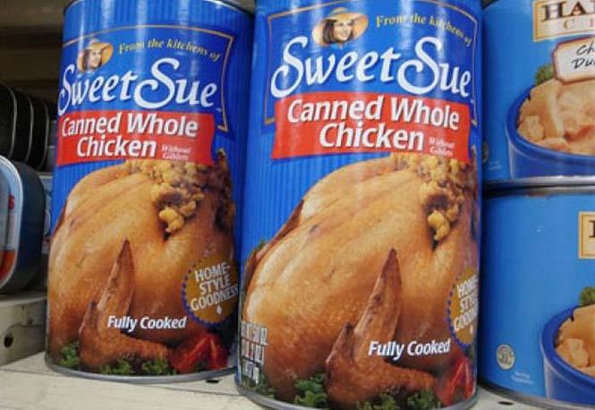 Θα αγοράζατε ποτέ ολόκληρο κοτόπουλο σε κονσέρβα; (1)