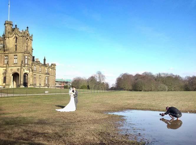 Φωτογράφος χρειάστηκε να βραχεί για να βγάλει την τέλεια γαμήλια φωτογραφία (3)