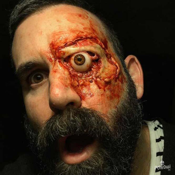 Τα υπερβολικά ρεαλιστικά μακιγιάζ ειδικών εφέ του Marc Clancy (2)