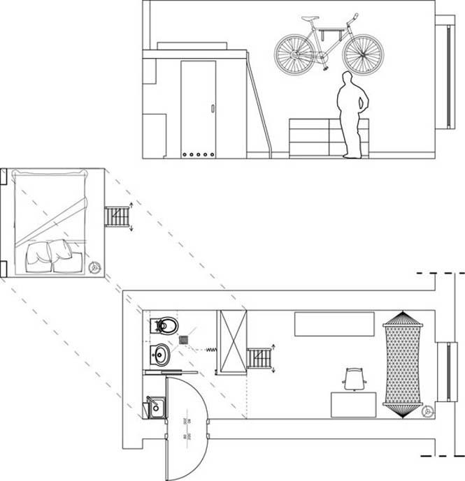 Ζώντας άνετα σε ένα διαμέρισμα 13 τ.μ. (9)