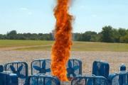 Ανεμοστρόβιλος φωτιάς σε super slow motion
