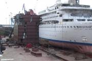 Δείτε πως ένα κρουαζιερόπλοιο κόβεται στην μέση και επεκτείνεται