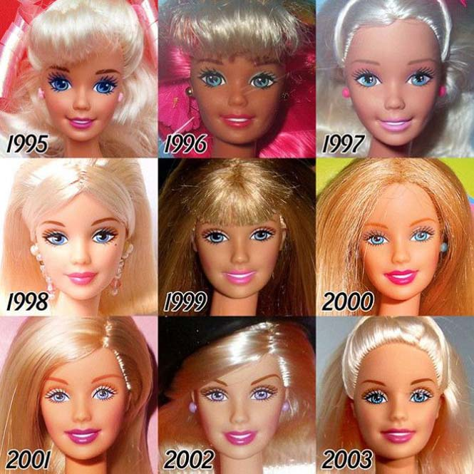 Η εξέλιξη της Barbie με το πέρασμα των χρόνων (5)