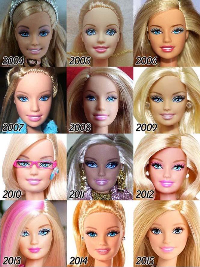 Η εξέλιξη της Barbie με το πέρασμα των χρόνων (6)