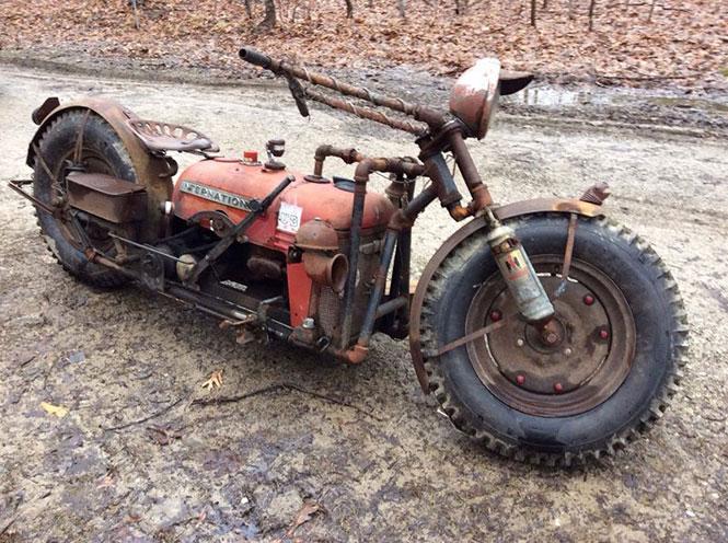 Μετέτρεψε παλιό τρακτέρ σε μοτοσυκλέτα (3)
