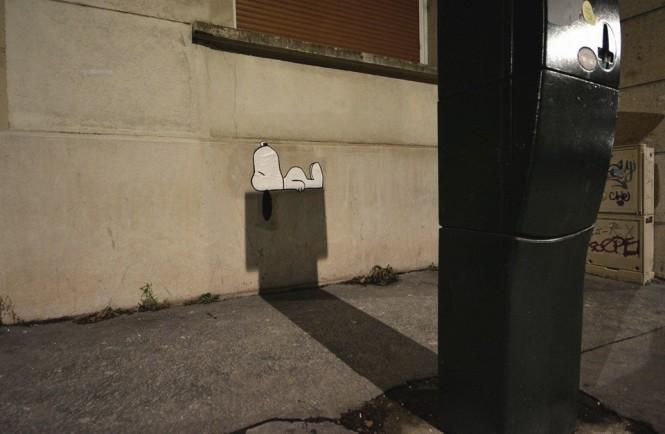 Έξυπνο έργο τέχνης του δρόμου με τον Snoopy | Φωτογραφία της ημέρας