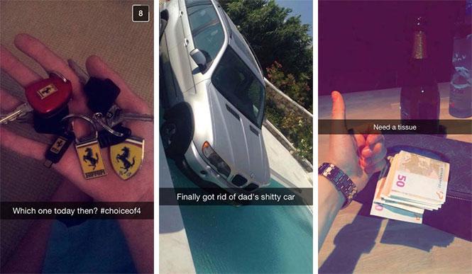 Τα πλουσιόπαιδα του Snapchat δεν χάνουν ευκαιρία να κάνουν επίδειξη του πλούτου τους (1)