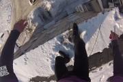 Ρώσος πήδηξε από κτήριο 15 μέτρων στο χιόνι