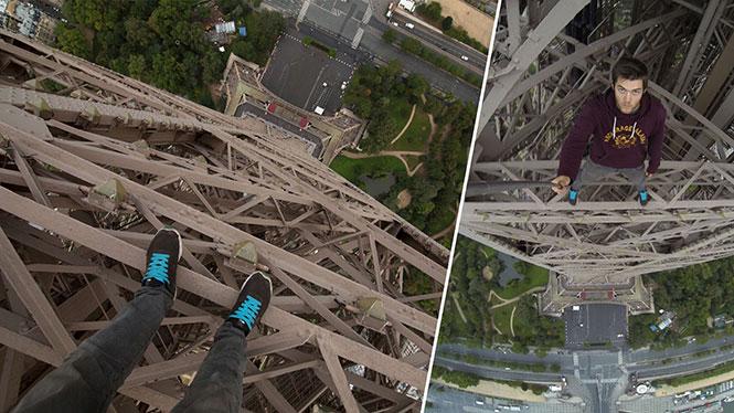 Σκαρφαλώνοντας στον πύργο του Άιφελ