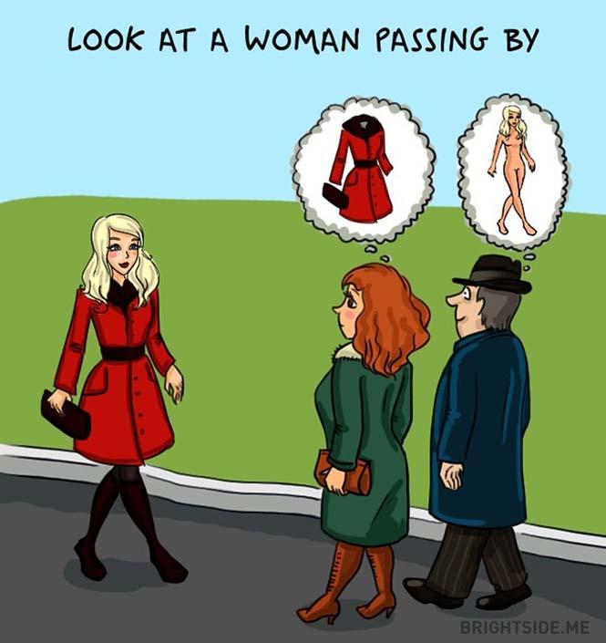 Άνδρες vs Γυναίκες: Οι διαφορές των δύο φύλων σε 14 χιουμοριστικά σκίτσα (4)