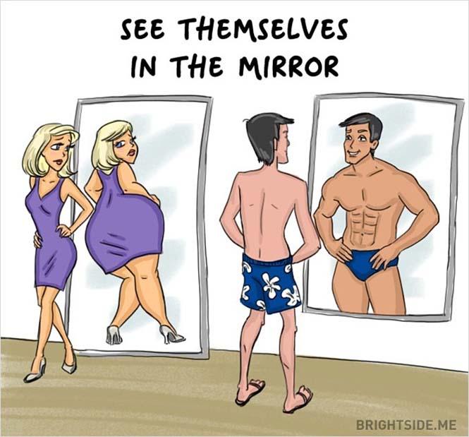 Άνδρες vs Γυναίκες: Οι διαφορές των δύο φύλων σε 14 χιουμοριστικά σκίτσα (6)