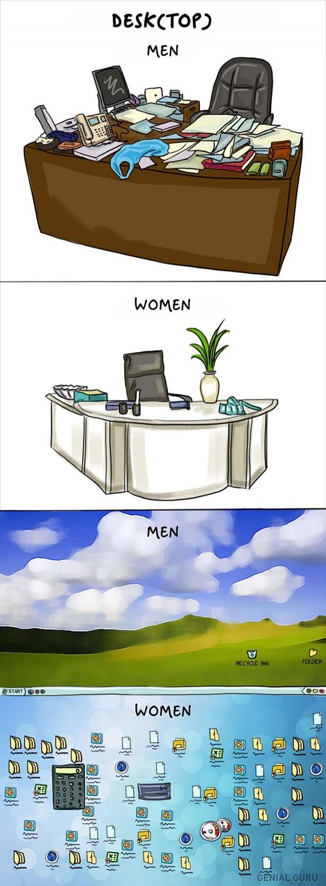 Άνδρες vs Γυναίκες: Οι διαφορές των δύο φύλων σε 14 χιουμοριστικά σκίτσα (13)