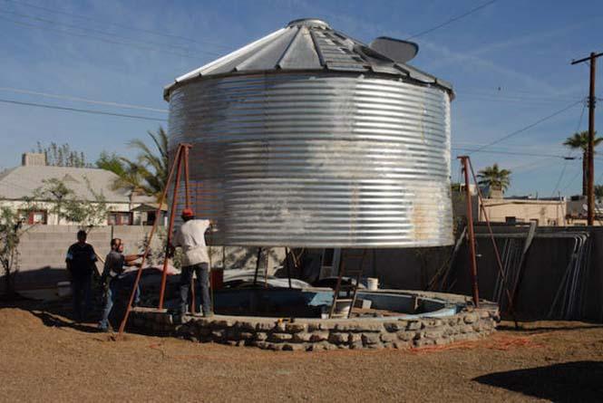 Εφευρετικός αρχιτέκτονας μετέτρεψε σιλό σιταριού σε σπίτι (1)