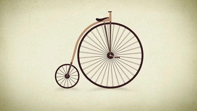 Η εξέλιξη του ποδηλάτου σε λιγότερο από 1 λεπτό