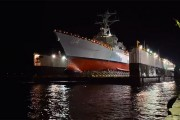 Εντυπωσιακή καθέλκυση πολεμικού πλοίου