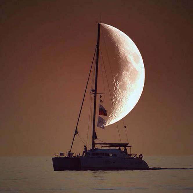 Φωτογραφίες με το Φεγγάρι που τραβήχτηκαν την κατάλληλη στιγμή (6)