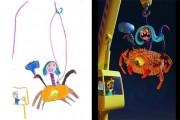 Καλλιτέχνες «δίνουν ζωή» σε παιδικές ζωγραφιές τεράτων (12)