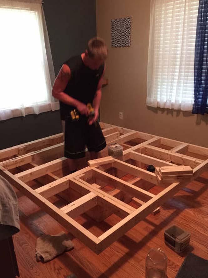Κατασκευάζοντας ένα κρεβάτι που «αιωρείται» (9)