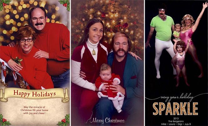 Κάθε χρόνο αυτό το ζευγάρι ετοιμάζει μια ξεκαρδιστική χριστουγεννιάτικη κάρτα