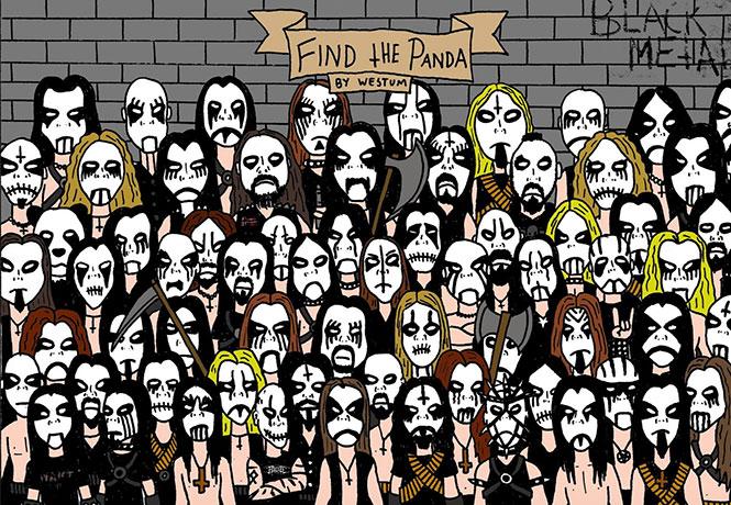 Μπορείτε να εντοπίσετε το Panda σε αυτή την εικόνα με θαυμαστές της Death Metal (1)