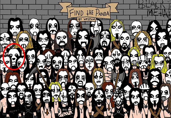 Μπορείτε να εντοπίσετε το Panda σε αυτή την εικόνα με θαυμαστές της Death Metal (2)