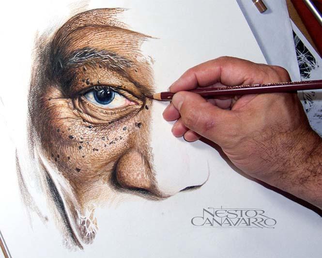 Καλλιτέχνης αφιέρωσε 50 ώρες σε ένα πορτραίτο του Morgan Freeman με ξυλομπογιές (1)