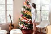 Στολισμοί χριστουγεννιάτικου δένδρου με λουλούδια (2)