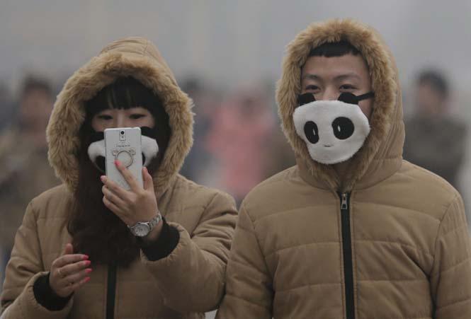 Στυλάτες μάσκες για τον μολυσμένο αέρα της Κίνας (2)