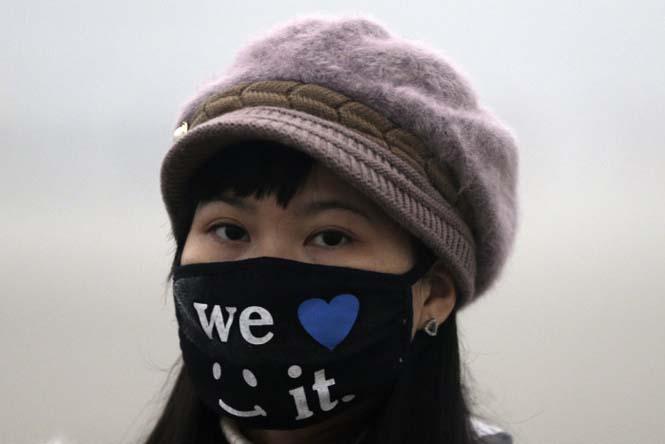 Στυλάτες μάσκες για τον μολυσμένο αέρα της Κίνας (6)