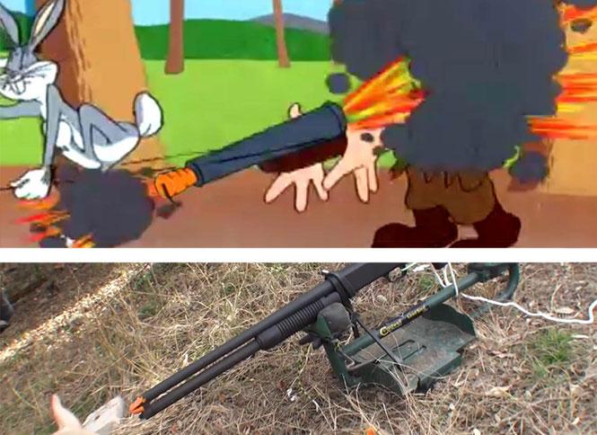 Τι θα συμβεί αν πυροβολήσεις με μια καραμπίνα βουλωμένη με καρότο όπως στο Bugs Bunny