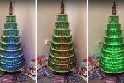 Χριστουγεννιάτικο δένδρο με μπουκάλια μπύρας