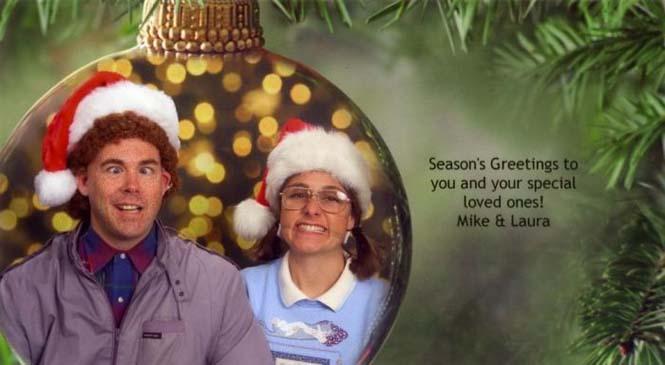 Κάθε χρόνο αυτό το ζευγάρι ετοιμάζει μια ξεκαρδιστική χριστουγεννιάτικη κάρτα (4)