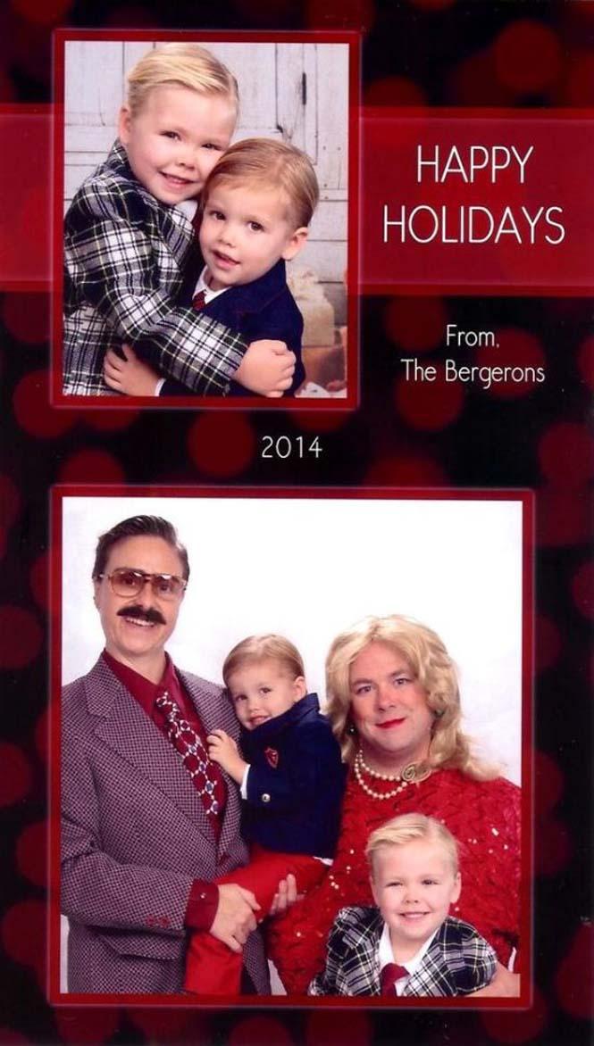 Κάθε χρόνο αυτό το ζευγάρι ετοιμάζει μια ξεκαρδιστική χριστουγεννιάτικη κάρτα (12)