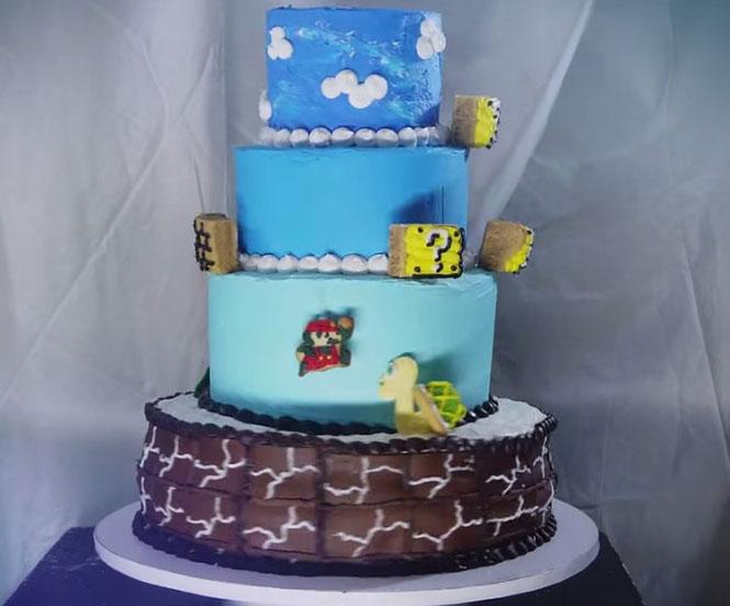 Η απόλυτη στριφογυριστή τούρτα Super Mario