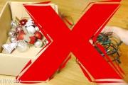 Πως να αποθηκεύσετε τα χριστουγεννιάτικα λαμπάκια χωρίς να μπλεχτούν και να γίνουν κόμπος
