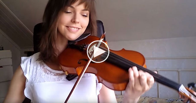 Αρχάρια κατέγραψε την εκπληκτική πρόοδο της στο βιολί μέσα σε 2 χρόνια
